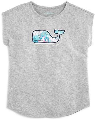 Vineyard Vines Girls' Starfish Whale Swing Tee - Big Kid