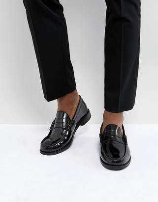 Base London Strike Hi Shine Leather Loafers