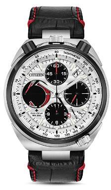 Citizen Tsuno Chrono Racer Black Leather Chronograph, 45mm