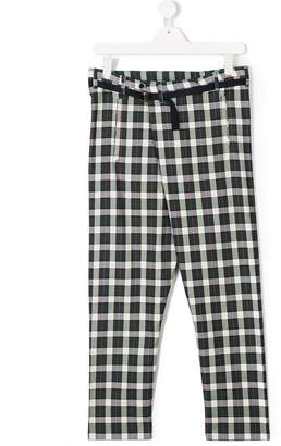 Max & Lola TEEN checked trousers