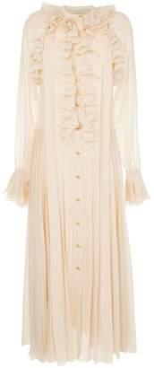 Philosophy di Lorenzo Serafini ruffle trim shirt dress