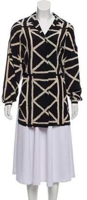 Ellen Tracy Linda Allard Silk Abstract Top