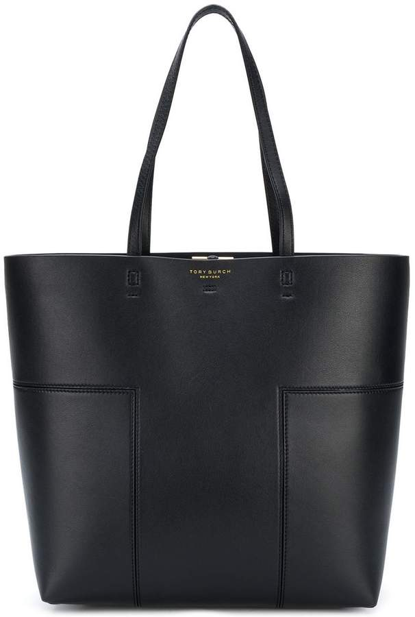 Tory Burch Block-T tall tote bag - BLACK - STYLE