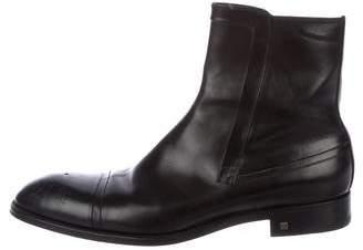 Louis Vuitton Leather Cap-Toe Boots