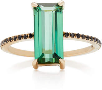 Black Diamond Yi Collection 18K Gold Tourmaline And Ring
