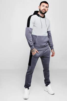 boohoo Colour Block Hooded Tracksuit