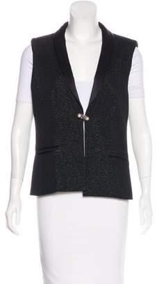 Chanel Wool Shawl-Lapel Vest w/ Tags