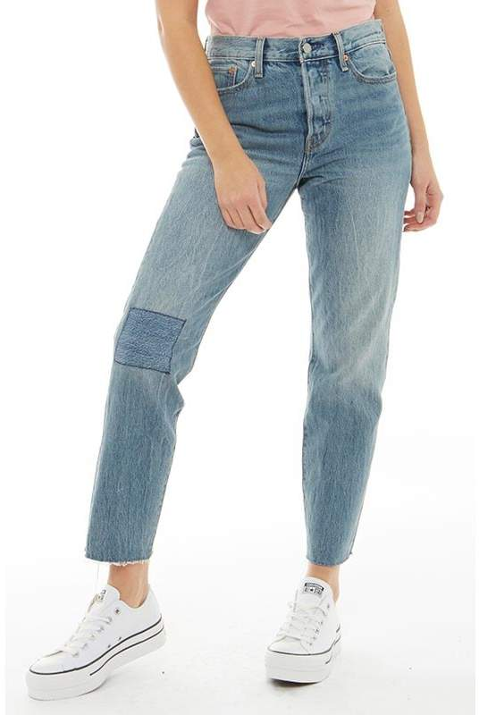 Damen Wedgie Icon Rise Cropped Capri Jeans Gewaschtes Steingrau