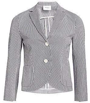 Akris Punto Women's Seersucker Stripe Jacket
