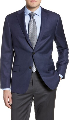 Hickey Freeman Classic Fit Solid Wool Blazer