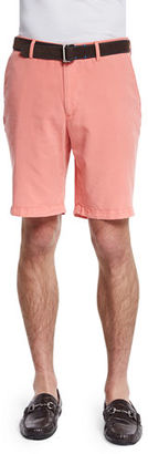 Peter Millar Summertime Flat-Front Twill Shorts $81 thestylecure.com