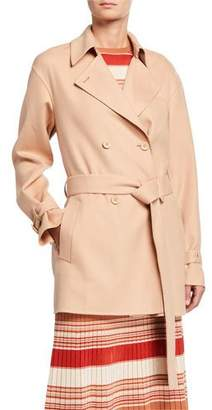 Loro Piana Cashmere Double-Breasted Short Coat