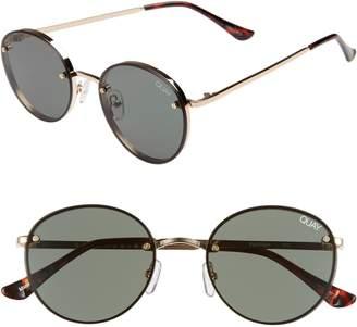 Quay x Elle Ferguson Farrah 53mm Round Sunglasses