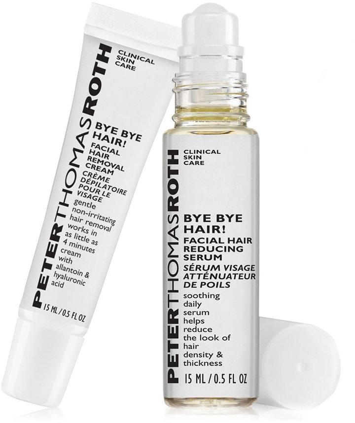 Peter Thomas Roth Bye Bye Hair! Facial Hair Reducing Serum & Hair Removal Cream
