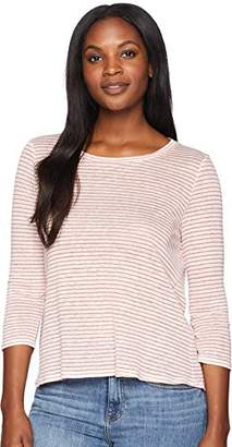 Three Dots Women's Mojave Stripe Short Loose Top
