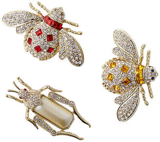 Joanna Buchanan Jeweled Insect Clip Ornaments - Silver
