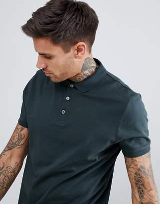 Asos Design DESIGN jersey polo in khaki