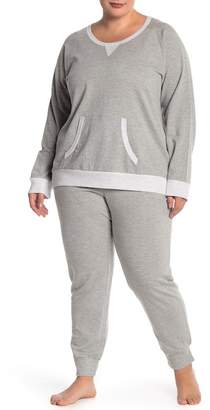 Couture PJ Plus Size Grey Sweatshirt & Sweatpants Set