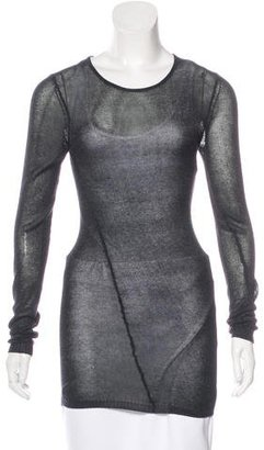 Inhabit Long Sleeve Semi-Sheer Sweater w/ Tags $90 thestylecure.com