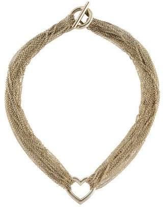Tiffany & Co. Mesh Heart Necklace