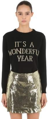 Alberta Ferretti Happy New Year Knit Sweater