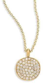 Ippolita Stardust Diamond& 18K Yellow Gold Disc Pendant Necklace