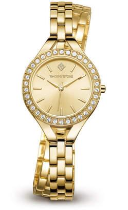 Timothy Stone Women's 'Joliet Crystal Accented Quartz Double Wrapped Slim Bracelet Watch