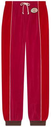 Gucci Chenille harem style trousers