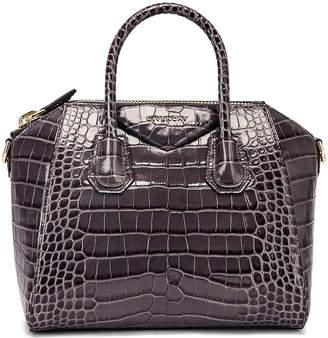 Givenchy Small Crocodile Embossed Antigona in Storm Grey | FWRD