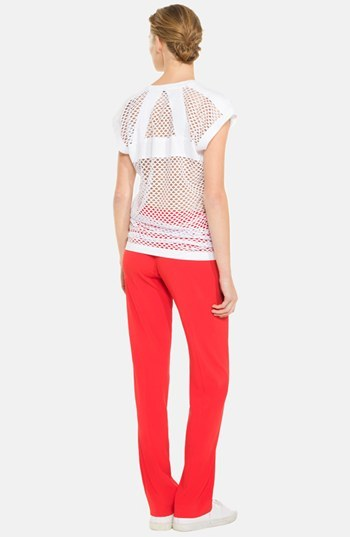 Sandro 'Tentation' Mesh Back Blouse