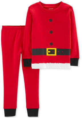 Carter's Baby Boys Red Santa Suit Cotton Pajamas