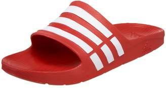 adidas Duramo Slide Sandal,Red/White/Red