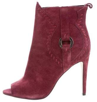 Rebecca Minkoff Suede Peep-Toe Boots w/ Tags