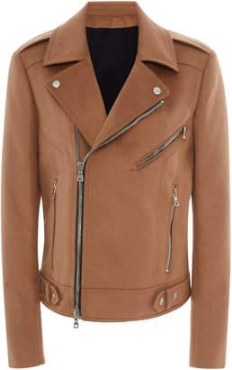 Balmain Asymmetrical Zip Moto Jacket