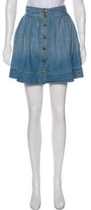 Current/Elliott Denim Mini Skirt