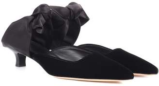 The Row Coco velvet and satin mules
