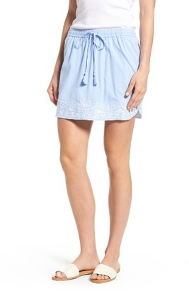 Women's Vineyard Vines Embroidered Cotton Drawstring Miniskirt $78 thestylecure.com