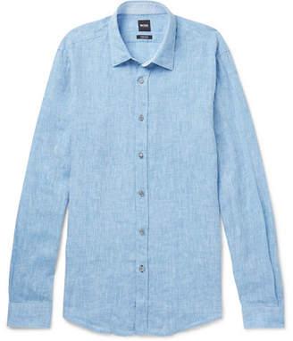 HUGO BOSS Lukas Mélange Linen Shirt