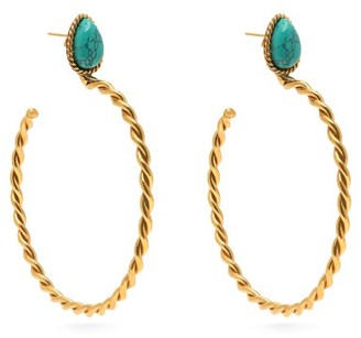 Sylvia Toledano - Turquoise Hoop Earrings - Womens - Blue