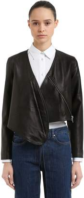 Aalto Cropped Leather Bolero Jacket