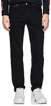 Vetements Men's Leather-Back Straight Jeans