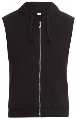 THE WHITE BRIEFS Son Sleeveless Hooded Sweatshirt - Mens - Black
