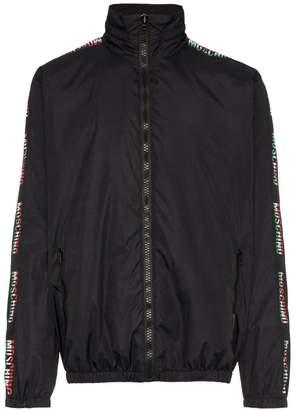 Moschino logo sleeve sport jacket