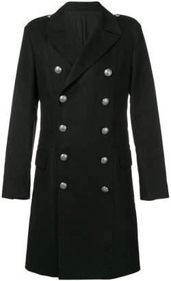 Balmain embossed button coat