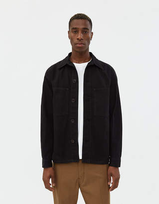Lemaire Classic Denim Jacket in Black