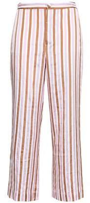 Frame Striped Jacquard Wide-leg Pants