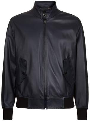 Burberry Leather Harrington Jacket