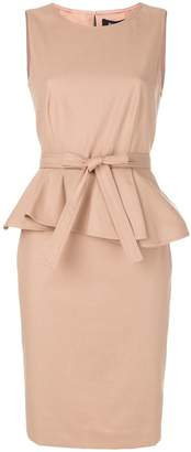 Paule Ka bow peplum dress