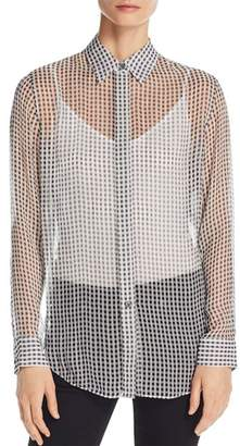 Theory Essential Sheer Silk Shirt
