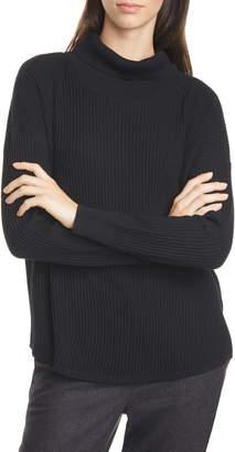 Eileen Fisher Merino Wool Turtleneck Top